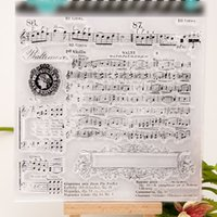 album photo musical - 13 cm Musical Transparent Clear Silicone Stamp Seal for DIY scrapbooking photo album Decorative clear stamp sheets