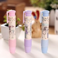Wholesale Fashion Students Pen Shape Eraser Rubber Stationery Kid Gift Toy Cute For Xmas a2