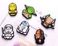 Wholesale Star Wars Fridge Magnets Refrigerator Sticker Cartoon Darth Vader Solider Yoda Funny Doll Toy PVC Megnet CM Styles Factory Direct
