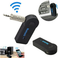Wholesale hands free Car Bluetooth V Hands Free Transmitter Stereo Music Receiver Wireless Audio With A2DP Multimedia Receiver Black BT310