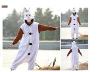 Wholesale Anime Costume Pajamas Frozen Olaf Snowman Cosplay White jumpsuit Adult Onesie Pyjamas Party clothes