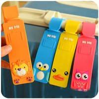 Wholesale 2016 New Animal Cute Travel Lage Tag PVC Baggage Tag Colorful Identification card for Trip D816