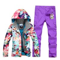 Wholesale newest ski suits women s jacket pants snowboard clothes snowboarding skiing jackets Sports Waterproof Windproof