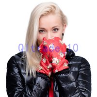 Wholesale 1000PAIR LJJH1068 New Winter keep warm Women Men Soft emoji Flag Galaxy Weed D Cartoon printing gloves and hot cute gloves