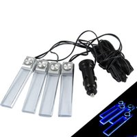 Wholesale Universal in1 V Car Auto Interior LED Atmosphere Light Decoration Lamp blue
