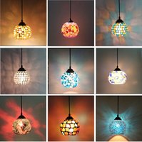 Wholesale European retro lamps Nightclubs Cafe Bar Disco Party Mosaic Glass Pendant light