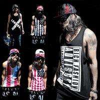american flag t shirt - 2015 New Fashion Summer Men Clothing American Flag Loose T Shirt Vest Tank Top Men Bodybuilding Sports Tops Tee M XL