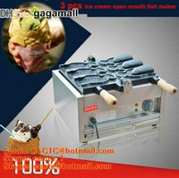 batch maker - New fashion south Korea ice cream fish maker V fish waffle machine batch fish Korean bread machine open mouth fish