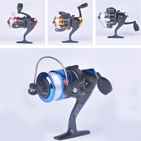 Gear fishing reel - Ball Bearings Fishing Reels Spinning Left Right Interchangeable Collapsible Handle adjustable cast control with sound