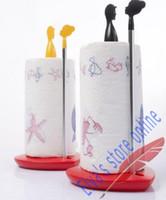 Wholesale LargeAluminum Alloy Plastic Kitchen Toilet Paper Towel Holder Rack Tissue Paper Towel Tube Pumping Tissue Holder Rack