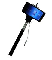 Wholesale Fashion Hot Z07 plus Extendable Wired Monopod Selfie Stick direct grooveTripod Handheld Monopod Cable Take Pole for IOS Android