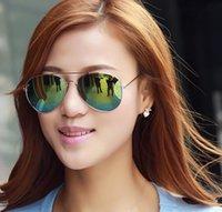Wholesale Designer Sunglasses for Men Fashion Metal Frame Sun Glasses Women Brand Top Quality UV400 Pilot Classics Oval Adumbral Sunglasses