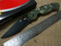 tool handle - 2016 SPYDERCO C36GCMOBK military folding knife CPM S30V camping C36 tool G10 Camo handle Black blade knives real picture SPIDER