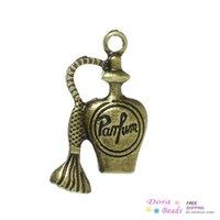 antique perfume bottles - Charm Pendants Perfume Bottle Antique Bronze quot Parfum quot Carved mm x mm B33972