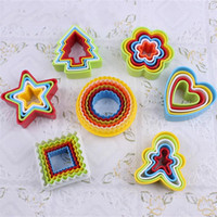 FDA abs food grade plastic - 7style cookies mold colorful pic sets food grade ABS biscuit mould baking tool cake mold
