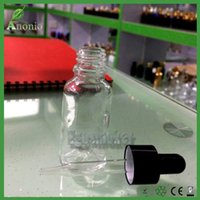 30ml dropper bottle glass - 5ml ml ml ml ml Transparent Glass E liquid Bottles With Black Anodized Ring and Black Rubber Head Glass Ejuice Dropper Bottles