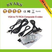 signal cable - Universal PC VGA to TV AV RCA Signal Adapter Converter Video Switch Box Supports NTSC PAL for computer peripherals