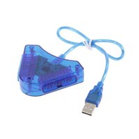 attractive games - Joypad Game USB Dual Player Converter Adapter Cable For PS2 Attractive Dual Playstation PC USB Game Controller