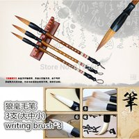 antique hair brush - New Antique Chinese Calligraphy Pen Weasel Hair Brushes Set Office School Painting Writing Supplies