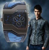 Cheap New Fashion Sport Watch Oulm Japan Double Movement Watch Men Square Dial Compass Function Military Cool Stylish Watches relojio