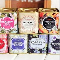 shipping container tin - Vintage style useful portable tea case tea tins storage boxes lids iron box mini storage container ss