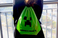 draw string bag - Hot selling Minecraft bag Minecraft backpack Minecraft Draw String Backpack Sling Bag Good Quality in stock Same Day Shipping