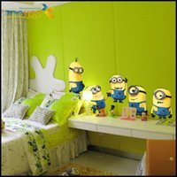 Wholesale 60pcs New Design Despicable Me Minion Movie Decal Removable Wall Sticker Home Decor Art Kids Nursery Loving Gift Christmas