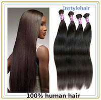 Wholesale Peruvian Human Hair straight hair no weft human hair bulk hair g full head style