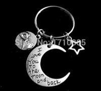 best promise rings - Hot Fashion Vintage Silver Best Friend Moon Promise Charm Gifts Key Ring Fit Set DIY Key Chains Accessories Jewelry Z660
