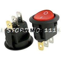 Wholesale AC A V A V Red Neon Light SPST ON ON Mini Round Rocker Switch order lt no track