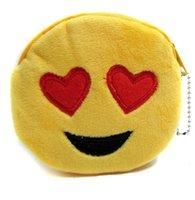 Wholesale New QQ Expression Coin Purses Cute Emoji Coin Bags Plush Pendant Womens Girls Creative Chirstmas Gifts High Quality cm C336