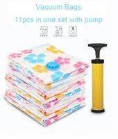 Wholesale 11PCS Set Vacuum compressed storage bags CM CM with Manual suction pump pc