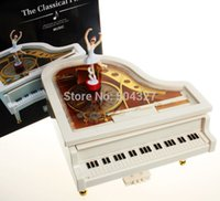 Wholesale EMS Pieces Mechanical Classical Piano Music Box Dancing Ballerina Musical Toy