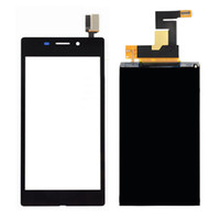 Wholesale BLACK Touch Screen Digitizer Glass Sensor LCD Display Panel Screen For SONY XPERIA M2 AQUA D2403 D2406 G LTE