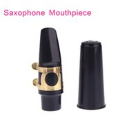Wholesale New Arrivel Alto Sax Saxophone Mouthpiece Plastic with Cap Metal Buckle Black