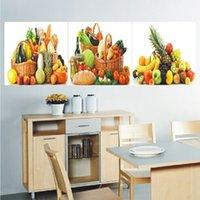 Главная украшения 3 стеновые панели искусстве украшения дома Гостиная банан ананас номер холст печати Современный Paint
