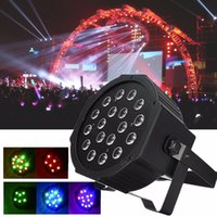 Wholesale 18W RGB laser light LED Stage Light Par DMX Chrismas Light Laser stage lighting Projector Party DJ Light LIF_223