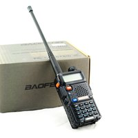 Wholesale BAOFENG UV R Dual Band VHF UHF Two Way Ham Radio Transceiver Walkie Talkie
