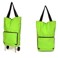 Wholesale Unisex Wheeled Shopping Bag Portable Folding Cart Bags Tug Collapsible Handbags Travel Outdoor Package Household Tools