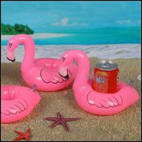 Wholesale 2015 kids cute flamingo cola Can holder swimming Floating cellphone cushion bath beach party Decoration kids gift J071302