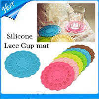Wholesale ound Colored Cup mat silicone Coaster Insulation Mat Table Non Slip Potholder Tableware Pad creative household cup coaster