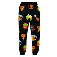 beer pizza - OPCOLV New Fashion Women Men Sport D Sweatpant Print Beer Pizza Jogging Pants Casual Graphic Hiphop D Jogger Pants