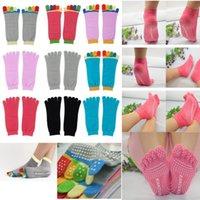 Wholesale Best Toes Yoga Socks Exercise Massage Sports Cotton Pilates Socks Comfortable Multicolor Quality