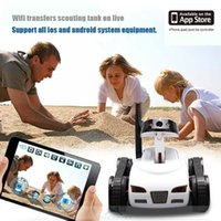 Wholesale New Holiday Gifts ch real time transmission iphone wifi remote control mini tank with camera remote control rc toy spy car