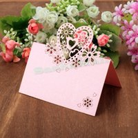 beautiful love names - Cheapest Pack Beautiful Laser Cut Love Heart Shape Hollow Wedding Party Favor Decor Table Name Place Cards