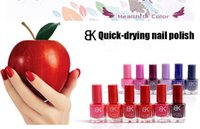 Wholesale 18 seconds fast drying colors Low price authentic BK candy color nail polish nude nail polish every sweet magenta color incense