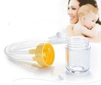 Wholesale high quality New Born Baby Safety Plastic Nose Cleaner Vacuum Suction anti backwash Nasal Aspirator