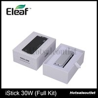 Wholesale Eleaf Istick W Full Kit iStick W Mod With Adjustable Voltage and Wattage V V and W W With Charger Authentic