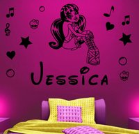arts color names - Customer made Personalized Name Monster High Draculaura Vinyl Decal Mural Kids Children Wall Sticker You Choose Name and Color