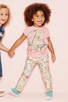 children bikes - 2015 New Girl Summer T shirts Pink Bunny Ride Bike Short Sleeve T shirts For Children Y